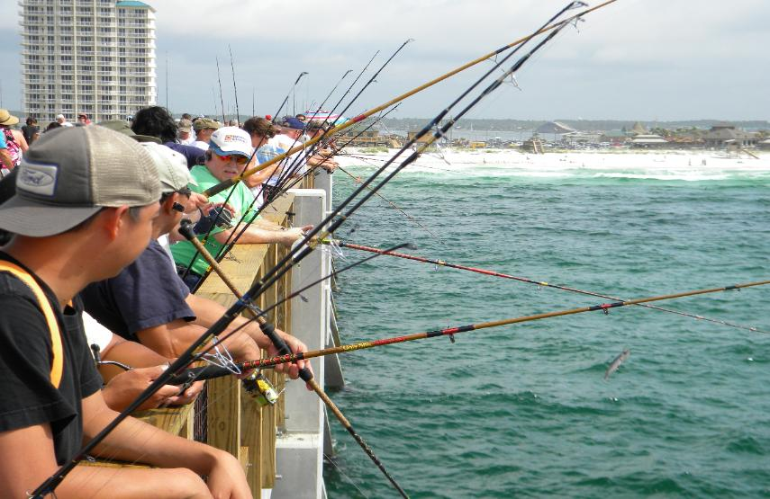 Navarre beach pier for Long beach fishing spots