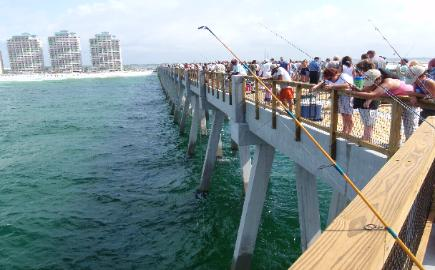 Pier fishing for Fishing in destin fl